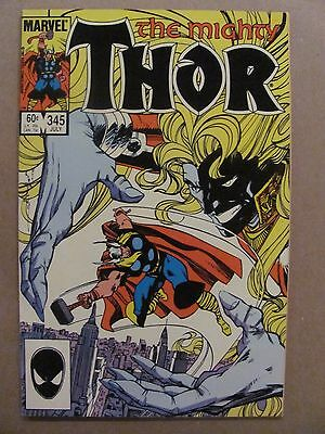 Thor #345 Marvel Comics 1966 Series Malekith app  9.2 Near Mint-