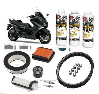 Kit Entretien Courroie Origine Filtre Huile IPONE Yamaha Tmax 530 NEUF