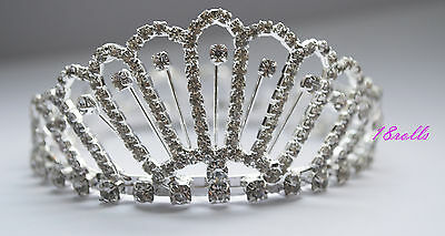 Stunning Crystal Luxury Wedding Bridal Party /Pageant Prom Tiara Crown UK 051