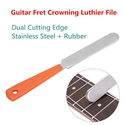 Guitar Fret Crowning Luthier File Stainless Steel Narrow Dual Cutting Edges