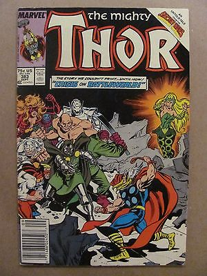 Thor #383 Marvel Comics 1966 Series Secret Wars flashback Newsstand Edition