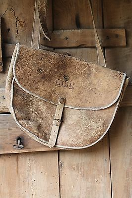 19th century leather military satchel 22nd Regiment with George III markings