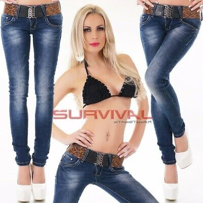 Womens Soft Stretch Skinny Jeans NEW Designer Blue Low Rise Size 6 8 10 12 14