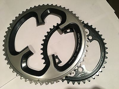 Shimano Dura Ace 9000 11 Speed 54/42 - 110bcd chainrings - Used