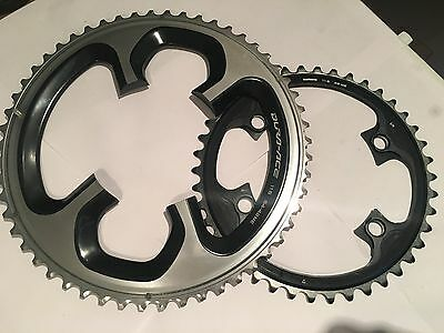 Shimano Dura Ace 9000 11 Speed 54/42 110bcd chainrings - New