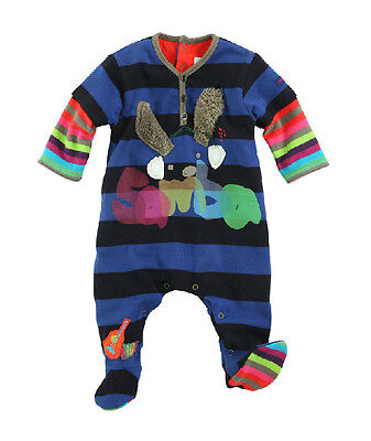New With Tags Catimini Boy's Cotton Sleepsuit /One Piece Outfit @RRP £38.95@1M@