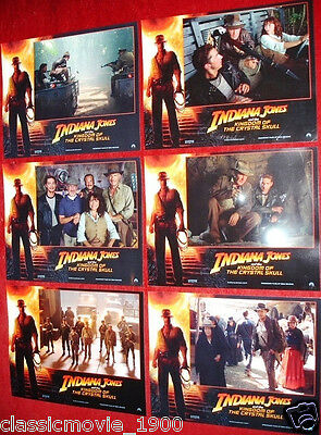 Indiana Jones And The Kingdom Of The Crystal Skull Original Lobby Cards  Mint