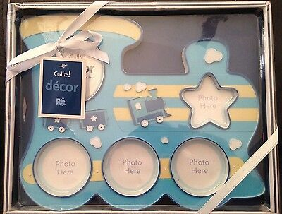 Baby Boy Picture Frame Gift Blue Train Multi Picture Frame Baby shower Newborn