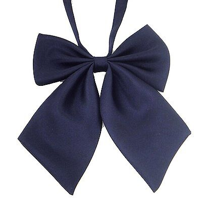 AWAYTR Ladies Adjustable Pre-tied Bow Tie Solid Color Bowties for Women