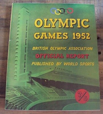 Olympic Games 1952 British Olympic Association Official Report World Sports