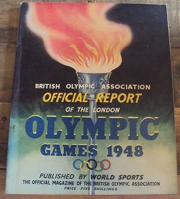 Olympic Games 1948 London British Olympic Association Official Report Book