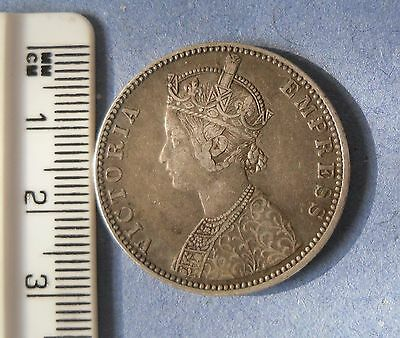 one rupee india 1889 victoria empress