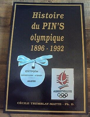 1896-1992 History Of Olympic Pins / Badges French Book- Great Images And Detail