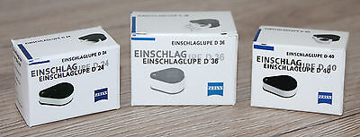 Zeiss Einschlaglupe D24 (6x) / D36 (9x/3x+6x) / D40 (10x) Lupe magnifying glass