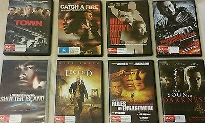 Dvd movies,Many good titles & Actors,$35.00 lot/Free post