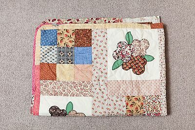Handmade Patchwork cot / Cotbed Quilt