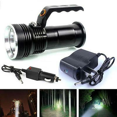 8000LM Handheld CREE XM-L T6 Rechargeable Flashlight Torch + AC/Car Charger AE