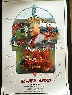 Liverpool FC 1965 FA Cup Final 50th Anniversary Limited Edition Signed Print