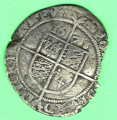 Great Britain 1573 Elizabeth l Hammered Medievel SILVER Sixpence
