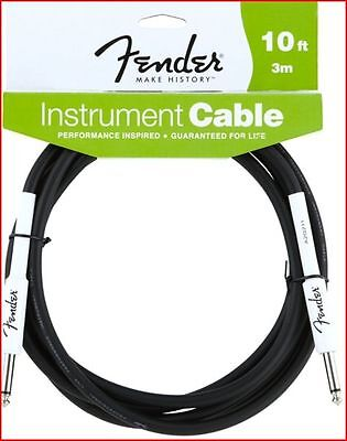 "Fender Performance Electric Guitar Cable Lead 10Ft / 3M  - 1/4"" Straight Jacks"