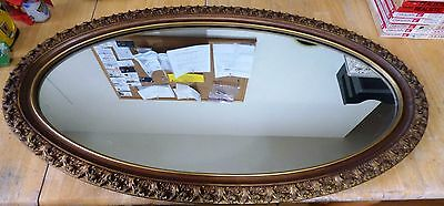 "Vintage J.A. Olson & Co 36"" Oval Mirror"