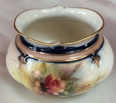 Antique Royal Worcester HADLEY WARE,HADLEY WORCESTER VASE,PAINTD ROSES,DATE 1905