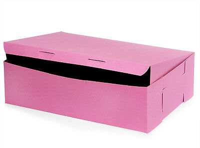 50 count PINK 14x10x4 Bakery or Cake Box