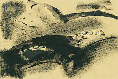 Abstract drawing of a landscape