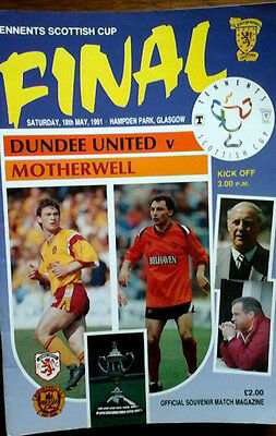 Dundee Utd V Motherwell 18/5/1991 Scottish Cup Final