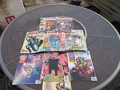 JUDGE DREDD  - 2000AD +  12 assorted mags + POSTER