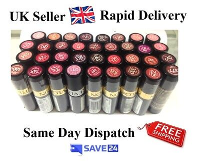 !!RRP£7.99!! Cheap Revlon Super Lustrous Lipstick, Sealed - 4.2g - 48 shades