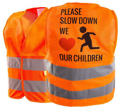 Kids Safety Vest Security Hi-Visibility Reflective Vest Running,Orange -KIDS777S