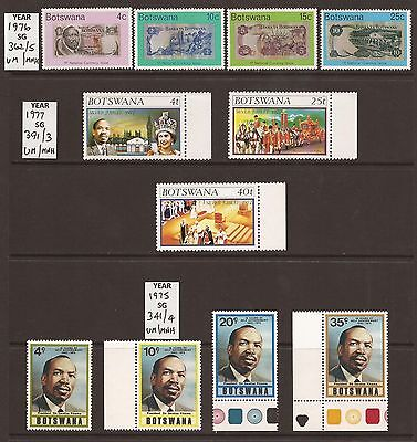 BOTSWANA - 1975/7 - 3 Full Sets - UM/MNH - See Scan for SG Nos.