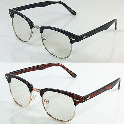 130 Fashion Eyewear for Mens Womens Half Frame Clear Clubmaster Brownie Glasses