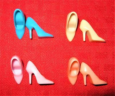 Vintage Barbie Repro For Clothes Blue Pink Lavender Closed Toe Spikes  Shoes Lot