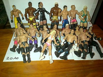 Figurines De Catch Wwe De 2010 Au Choix The Miz, Rey Mysterio, Mvp,