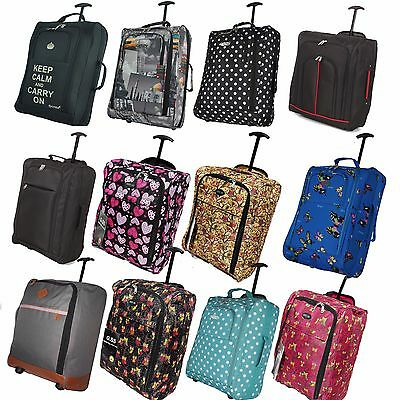 Wheeled Ryanair Easyjet Cabin Approved Flight Hand Luggage Trolley Suitcase Bag