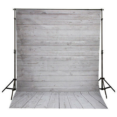 5x7FT Vinyl Photography Backdrop Photo Background, Gray+white wood floor O1G4
