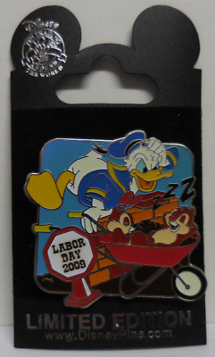 Disney Pin DLR WDW Labor Day 2009 Donald With Chip & Dale Pin LE2000