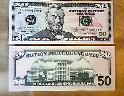 $50 Bill - Best Movie Prop Money - Fake Prank - Looks Real - Free Shipping!
