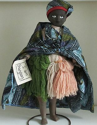"""VINTAGE 17"""" SOUTH AFRICAN SHANGAAN TRIBAL DOLL. (Ethnic, National Costume Doll)"""