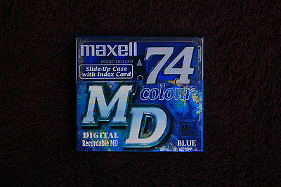 NEUF Minidisc MAXELL 74 mn NEW and sealed recordable MD vierges enregistrables