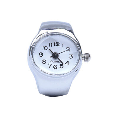 Watch Quartz Movement Oval Ring Alloy Deco Woman WHITE M3I8