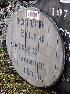 """Vatted Bowmore Islay Whisky Barrel Cask head braced ready to hang 22"""" wide"""