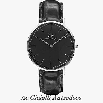 DANIEL WELLINGTON Orologio da Uomo Quadrante in Nero Classic READING DW00100135