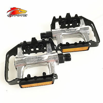 VP PE050 Bike Pedals Alloy Body with Steel Cage 9/16 Inch - Black/Silver