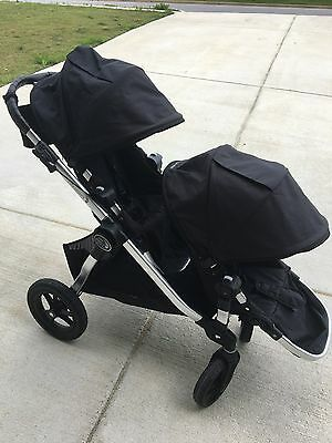 2016 baby jogger city select double stroller with car seat adaptors!