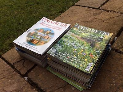 BIG PILE OF BRITISH COUNTRY LIFE  MAGAZINES JOB LOT 52 different £24.99