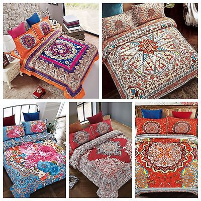 4Piece Complete Set Duvet Cover, Bohemian / Asian / Arab Style design patterns