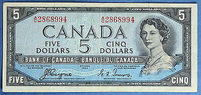 1954 - Bank of Canada - $ 5 - BC-31A  - Coyne-Towers - Devil's Face